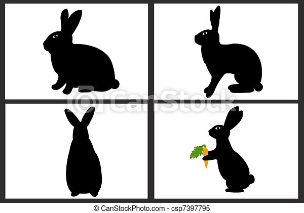Easter rabbit collage - csp7397795