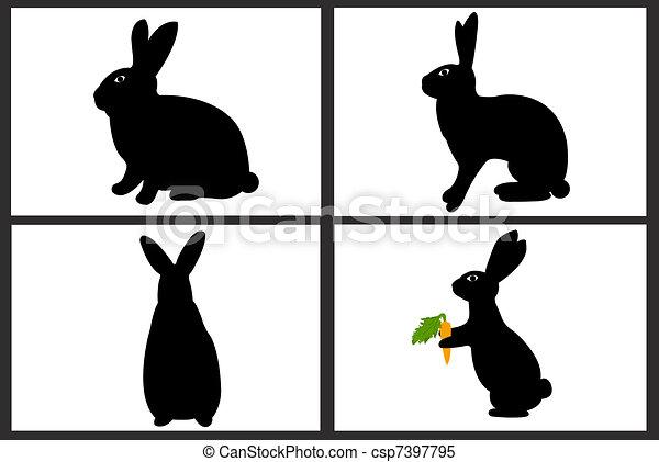 Easter rabbit collage - csp7397795