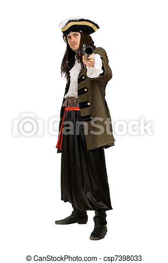 Young man in a pirate costume - csp7398033