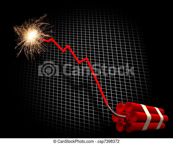Downward trend leading to explosion - csp7398372