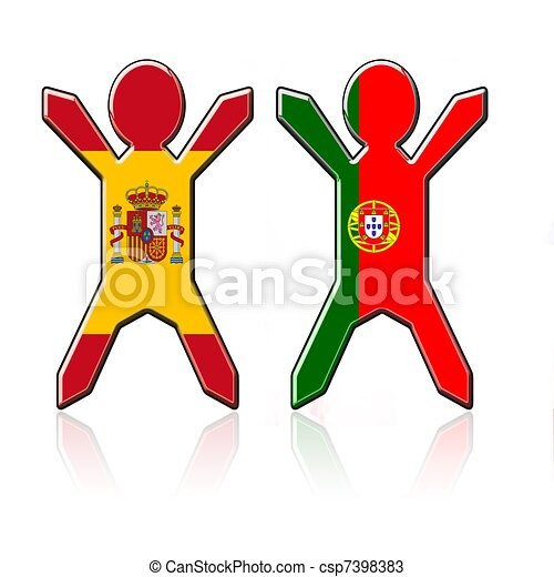 Dessins de types drapeau espagne portugal drapeau types csp7398383 recherchez - Dessin drapeau portugal ...