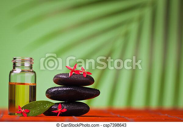 Health spa & massage still life - csp7398643