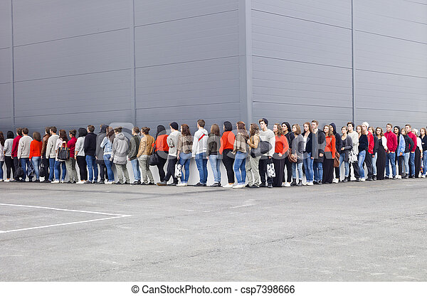 Waiting in Line - csp7398666