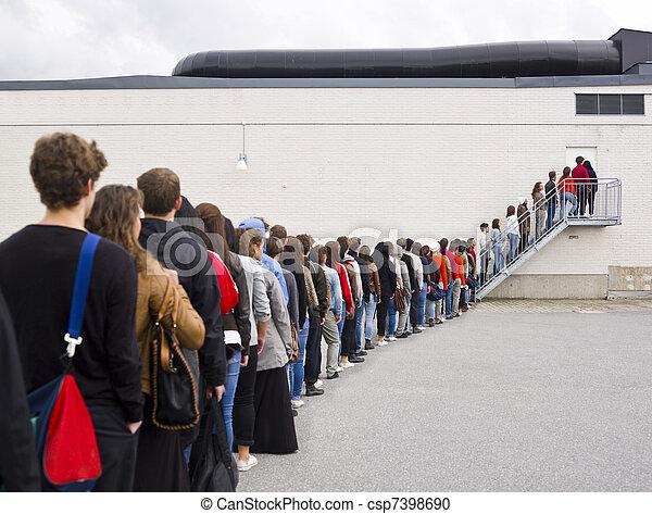 Waiting in Line - csp7398690