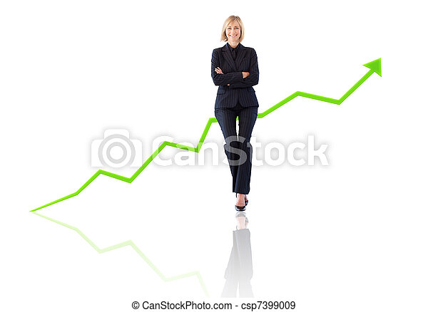 Successful businesswoman with the arms crossed - csp7399009