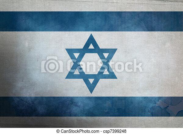 Grunge Israeli Flag - csp7399248