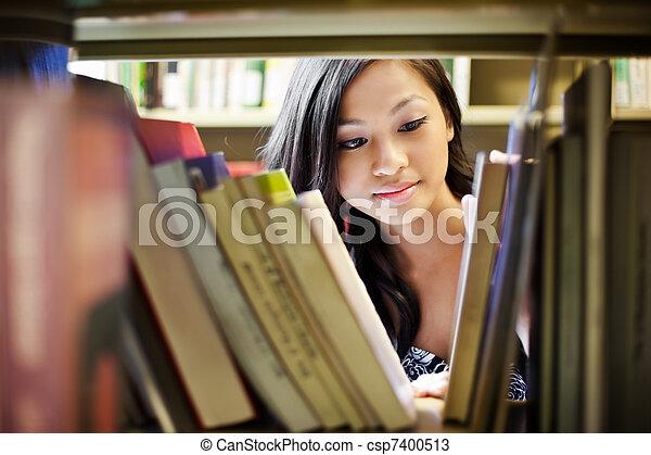 學院, 亞洲人, 學生 - csp7400513