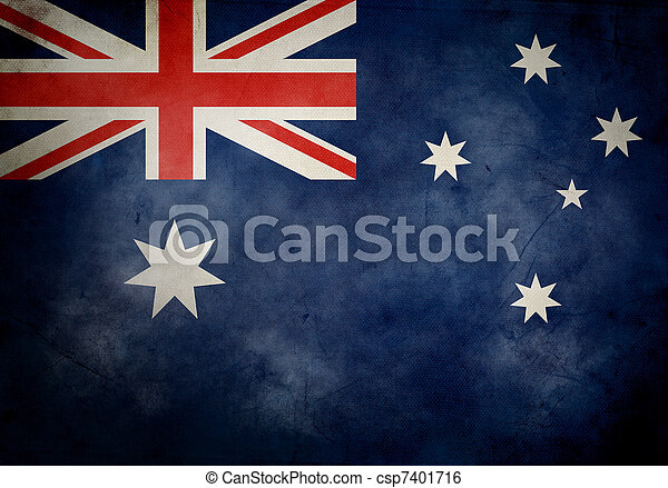 Australian Grunge Flag - csp7401716