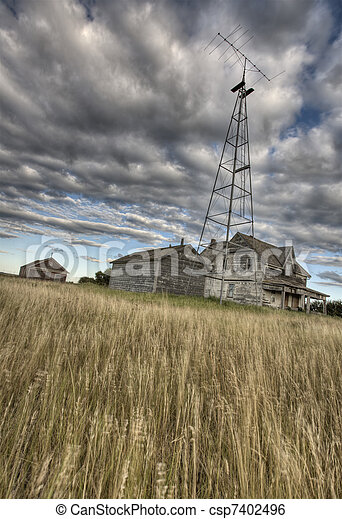 Abandoned Farmhouse Saskatchewan Canada - csp7402496