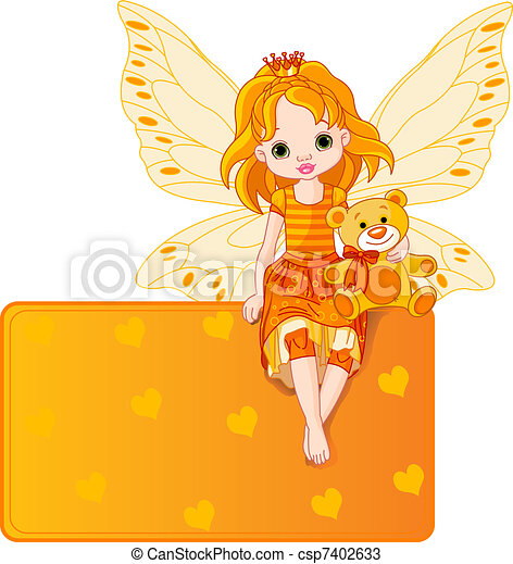 Little fairy place card - csp7402633