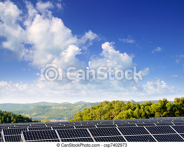 green energy solar plates for valley village - csp7402973