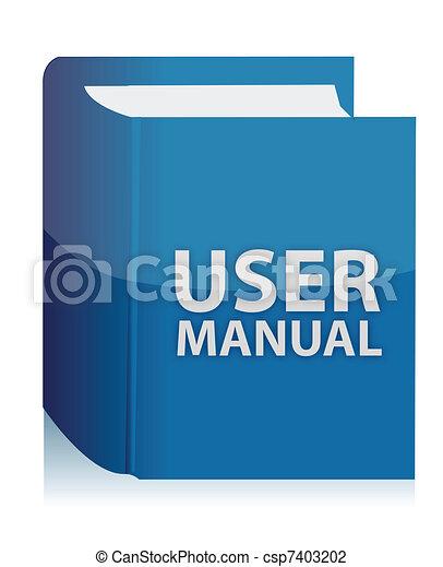 User guide book illustration design - csp7403202
