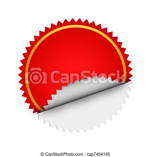 Round Red  sticker - csp7404145