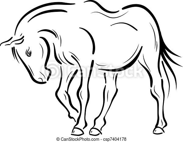horse - csp7404178