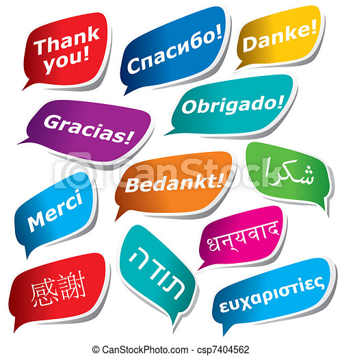 12 ways to say Thank You - csp7404562