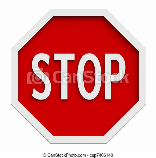 Stop sign - csp7406140