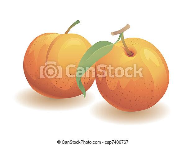 Peach Fruit - csp7406767