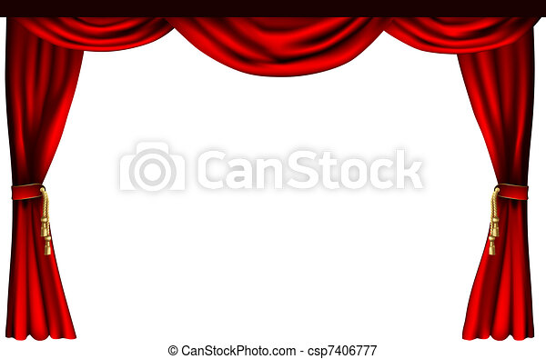 Theatre or cinema curtains - csp7406777