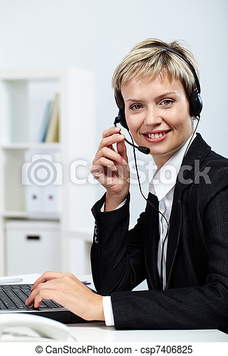 Busy and resilient secretary - csp7406825