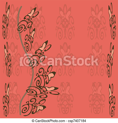 Postkaart, roos, achtergrond,  F - csp7407184