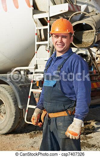 Image de constructeur ouvrier construction site for Site constructeur