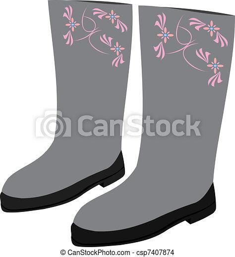 Winter footwear - csp7407874
