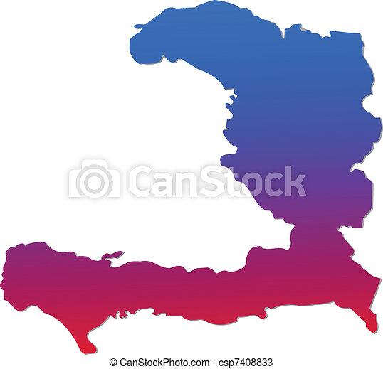 Haiti Map - csp7408833
