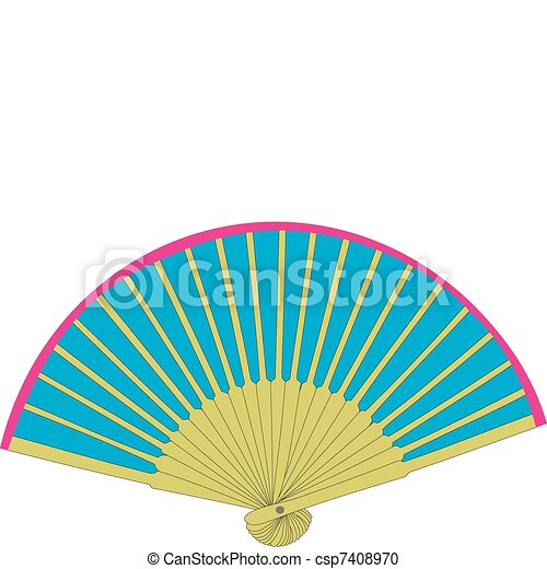 Beautiful fan - csp7408970