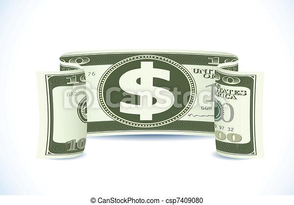 Dollar Note - csp7409080