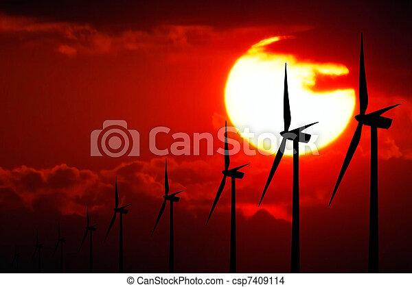 Power at Sunset - csp7409114