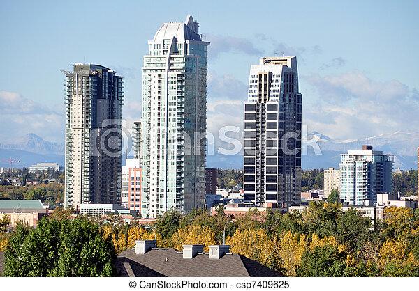 Calgary luxury condos - csp7409625