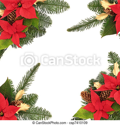 Christmas Decorative Border - csp7410109