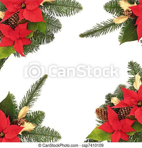 Christmas Decorative Border - csp7410109