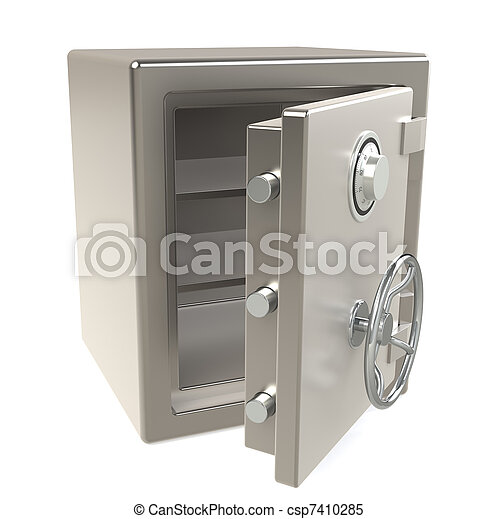 Open Safe - csp7410285