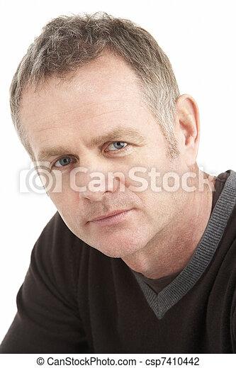Portrait Of Middle Aged Man - csp7410442