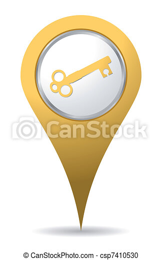 location key icon - csp7410530