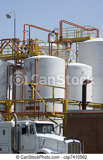 Chemical Storage Tank And Tanker Truck - csp7410562