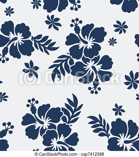 seamless flower fabric pattern - csp7412398