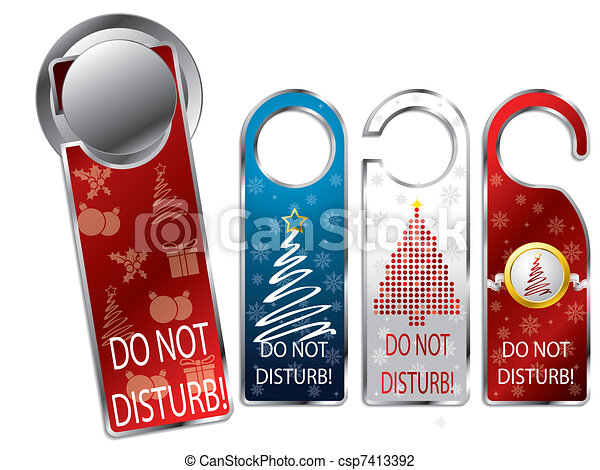Christmas design privacy labels - csp7413392