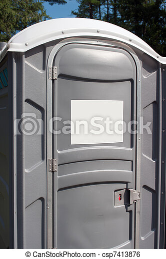 Stock image of outdoor plastic toilet portable outdoor - Porta poster plexiglass ...