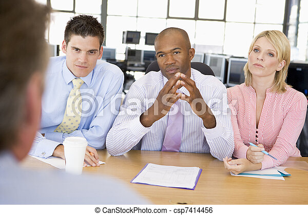 Stock Traders Conducting Interview - csp7414456
