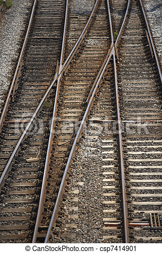 Railway Track Junction - csp7414901