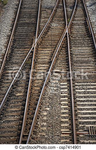 Railway Track Junction - csp7414901