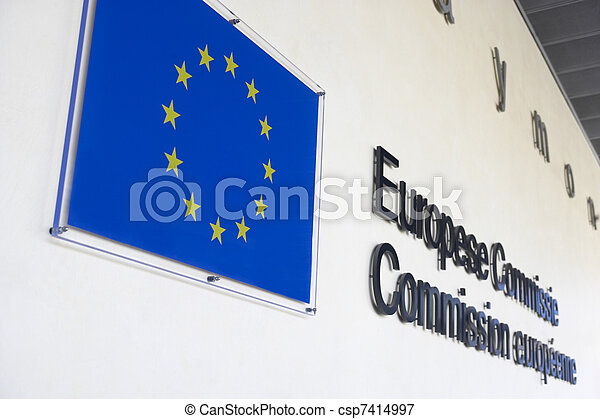 Exterior Of European Commission Building - csp7414997