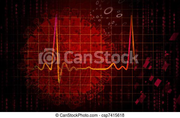 Electro Cardio Graph - csp7415618