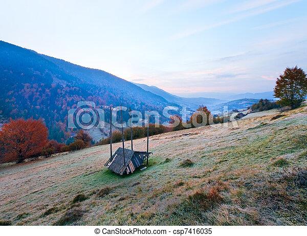 Daybreak in mountain - csp7416035