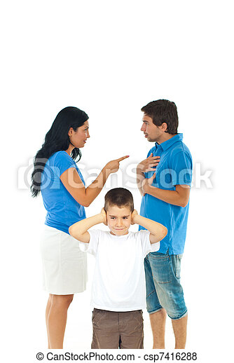Boy don't wanna hear parents conflict - csp7416288