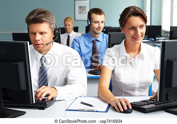 People working in office - csp7416934