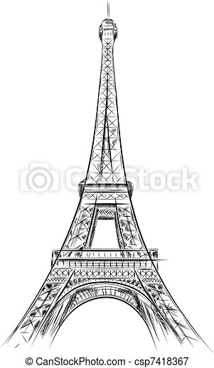 eiffel tower - csp7418367