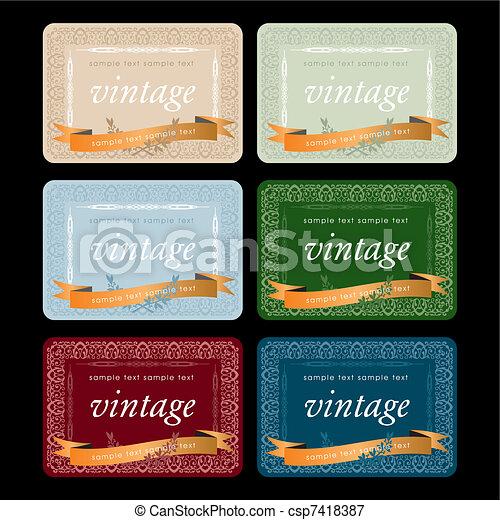 Vectors Illustration of Vintage Wine Labels Design Template – Free Wine Label Design
